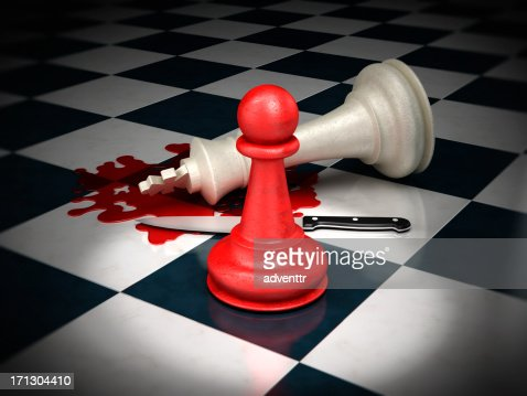 White king chess piece murder