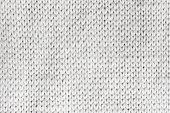 Macro photo of white knitted wool