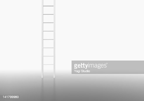 White ladder in white space