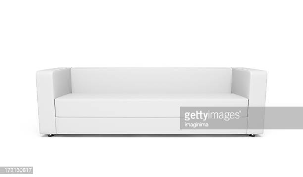 Weißes Leder-Sofa