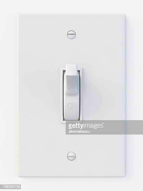 White light switch in the on position