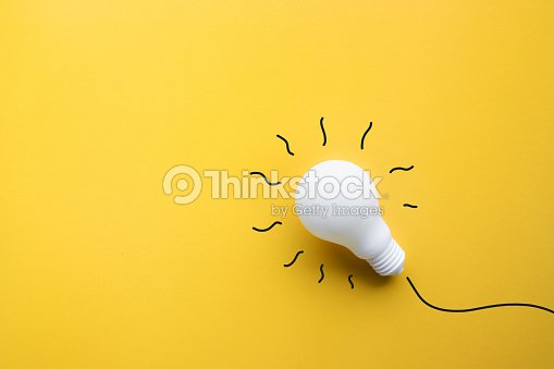 White lightbulb on pastel color background.Ideas creativity : Stock Photo