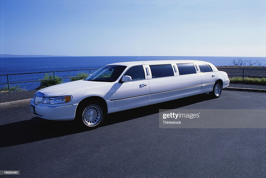 white limousine stock photo getty images. Black Bedroom Furniture Sets. Home Design Ideas