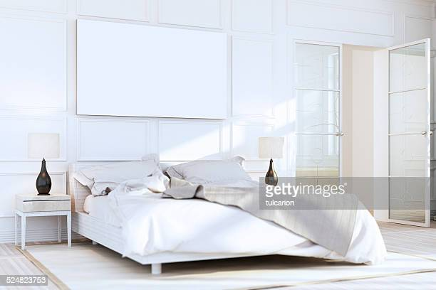 White Luxury Bedroom Wall Art