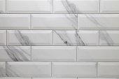 white marble metro ceramic tile texture, modern background