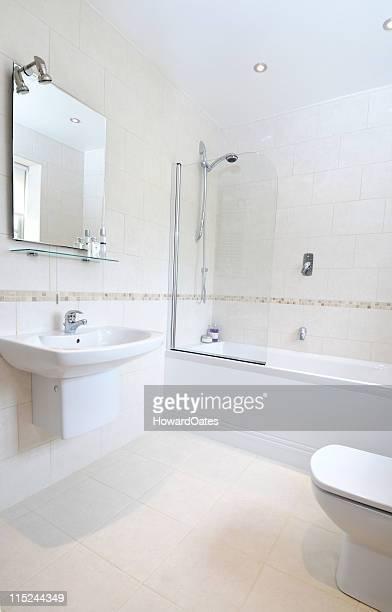 white modern bathroom interior
