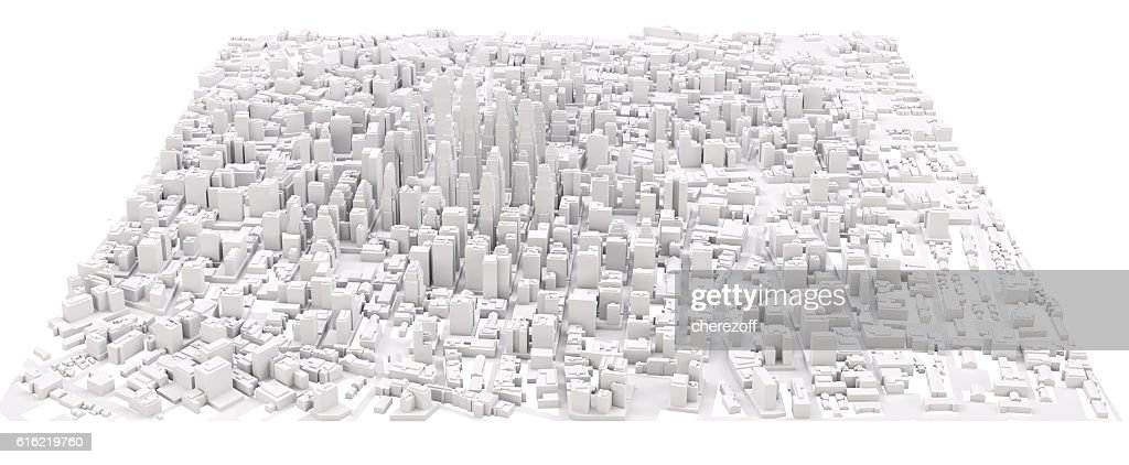 White modern city : Stock Photo