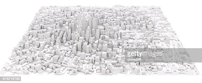White modern city : Stockfoto
