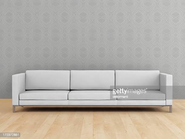Sofá branco moderno (XXL