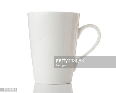 White mug isolated on a white background