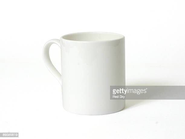 A white mug on a white background