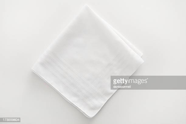 White napkin cloth on white background