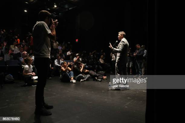 White nationalist Richard Spencer who popularized the term 'altright' speaks during a press conference at the Curtis M Phillips Center for the...