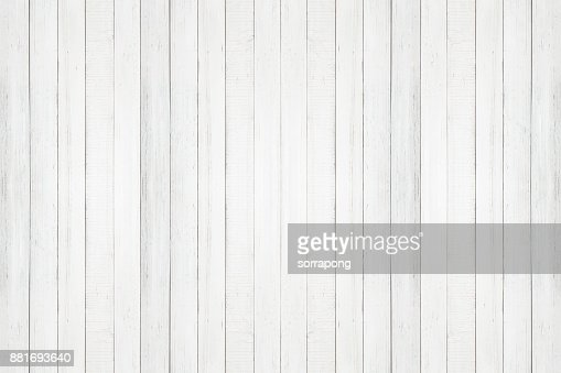 white natural wood wall texture and background seamless,Empty surface white wooden for design : Stock Photo