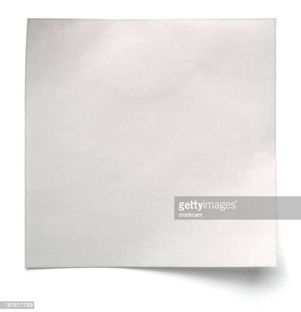 White note paper isolated