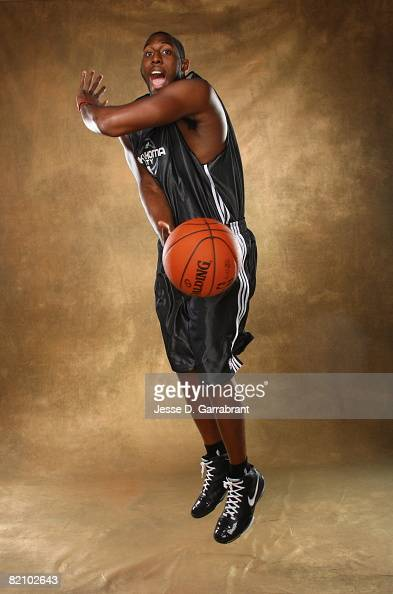 White of Oklahoma City poses for a portrait during the 2008 NBA Rookie Photo Shoot on July 29 2008 at the MSG Training Facility in Tarrytown New York...