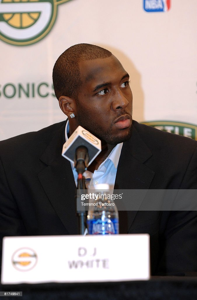 DJ White of the Seattle SuperSonics during a post draft press conference on June 27, 2008 at the Furtado Center in Seattle, Washington.