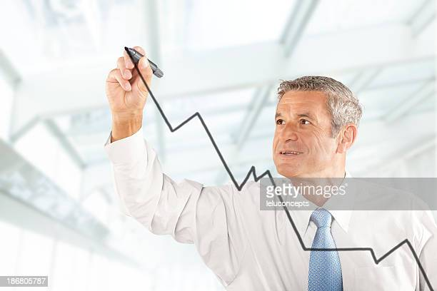 White old man Business analyst