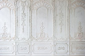 White ornate plaster wall pattern