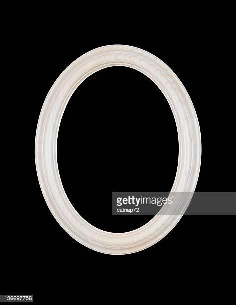 Cadre ovale et blanche, noir isolé