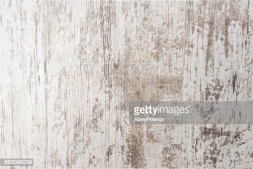 White painted old grunge wooden background, white empty wooden texture : Stock Photo