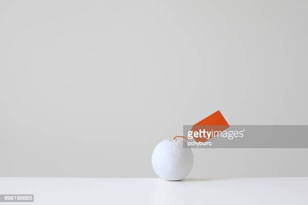 White painted orange with orange tag