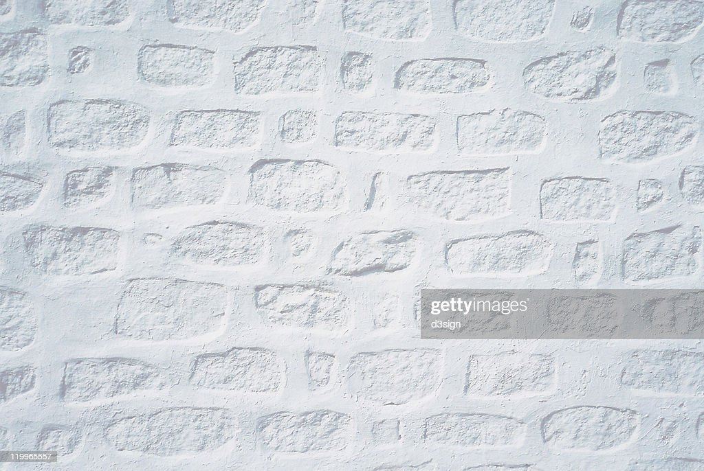 White painted stone wall texture