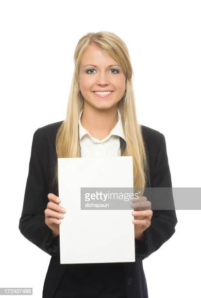White paper business woman