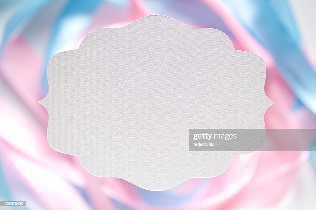 White paper label on abstract background : Stockfoto