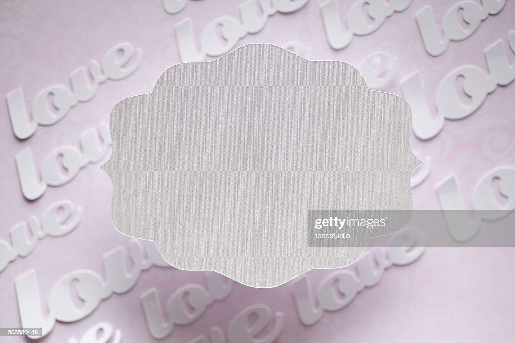 White paper label on abstract background : Bildbanksbilder