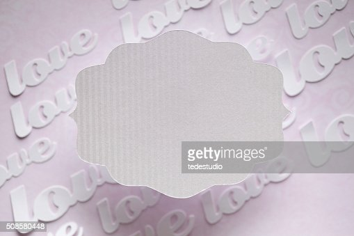 White paper label on abstract background : Bildbanksbilder