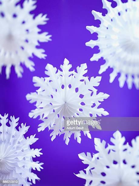White paper snowflakes