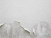 White peeling paint wall background