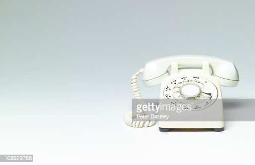 White phone on white background with copy space