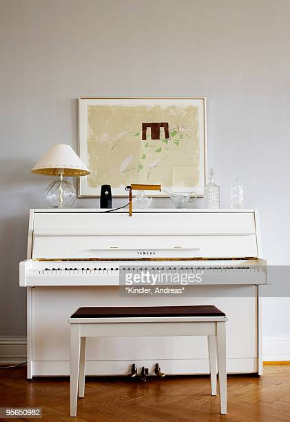 A white piano, Sweden.