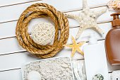 Beach Finds on the White Background