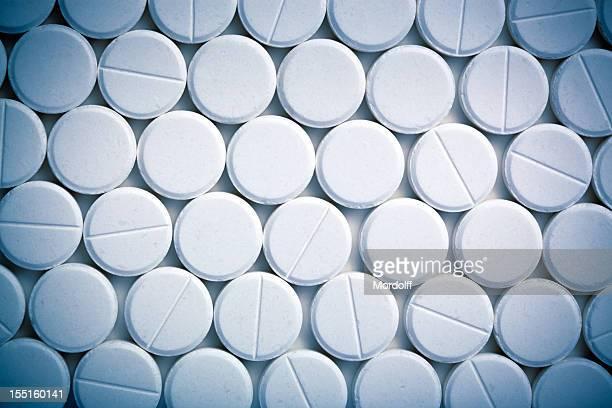 ホワイトの錠剤背景