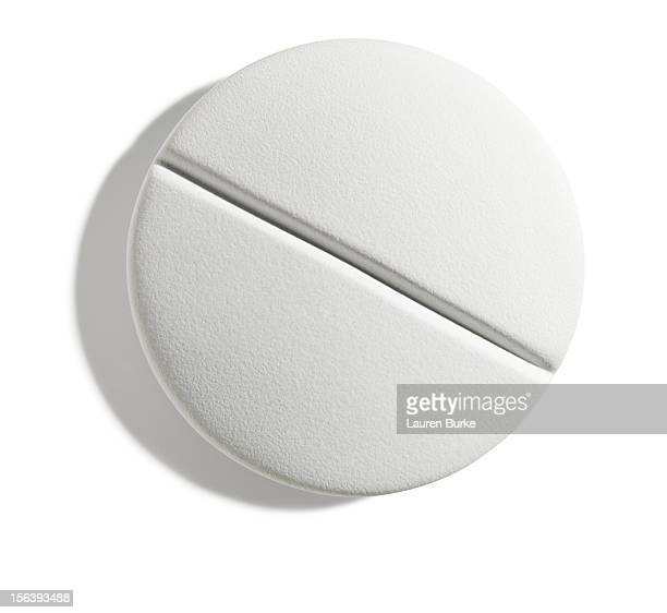 White pill on a white background