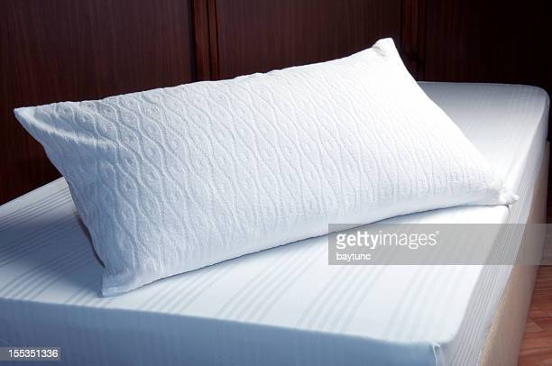 White Pillow Empty Bed
