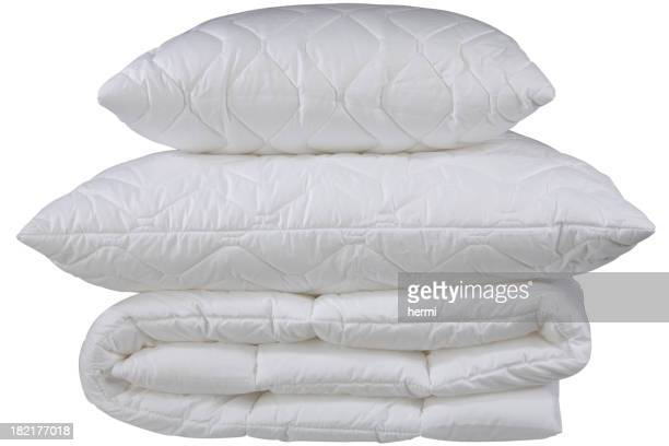 white pillows, clipping path