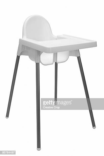 White plastic babies highchair