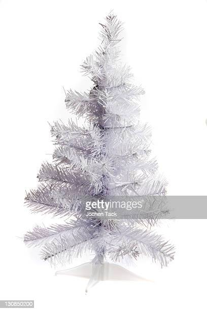 White plastic Christmas tree, collapsible