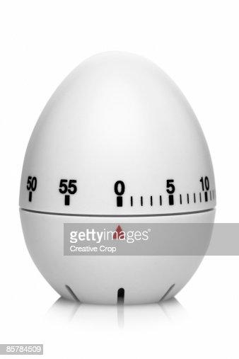White plastic egg timer