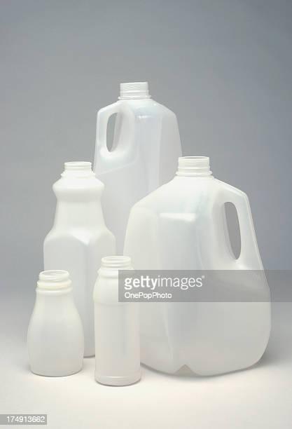 White Plastic jugs
