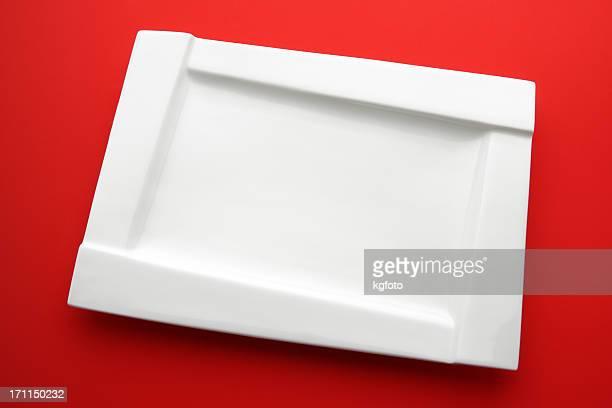 Weiße Teller