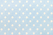 white polka dots on blue