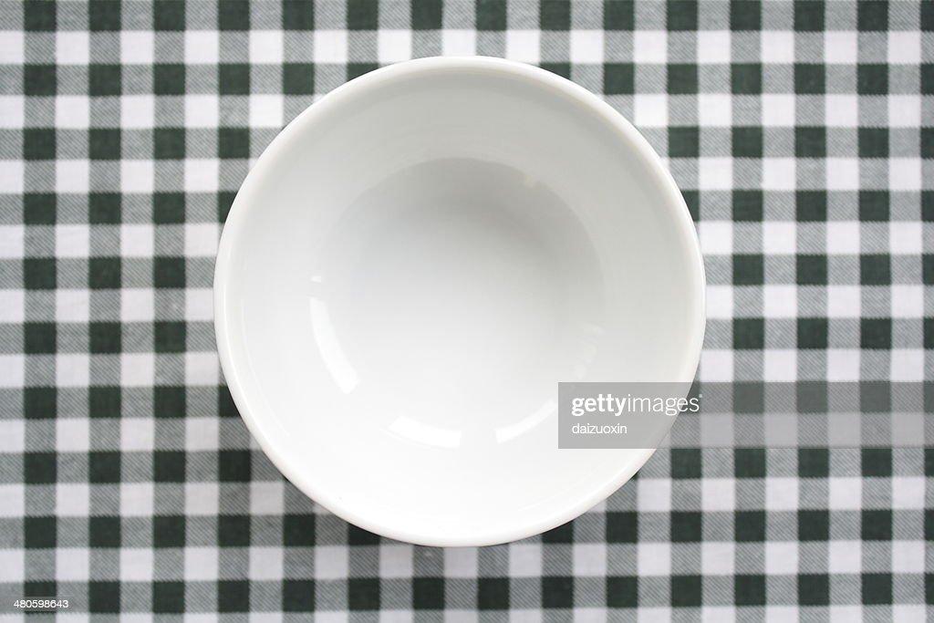 White Porcelain Bowl : Stock Photo