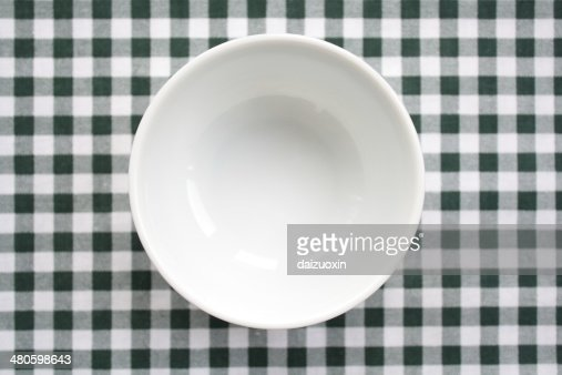 White Porcelain Bowl : Stock Photo