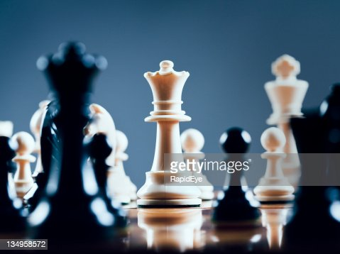 White queen rules the board