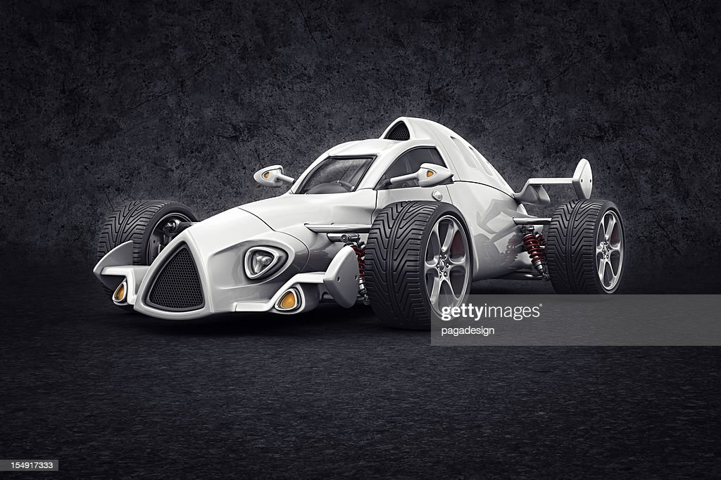 white racecar : Stock Photo
